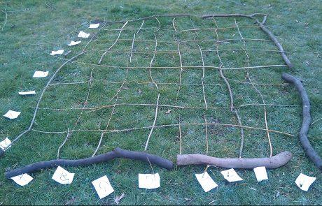 outdoor learning maths natural battleships game