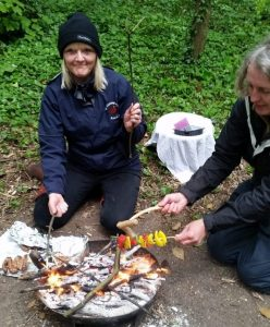 Outdoor practical skills on level 2 forest school training