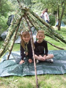 art and design with building dens